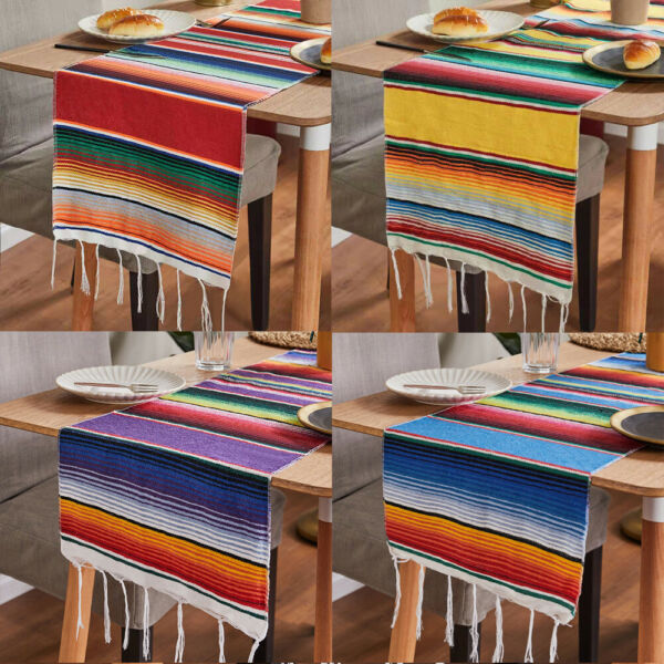Mexican Serape Table Runners 14x108quot; Tablecloth Wedding Fiesta Party Decoration