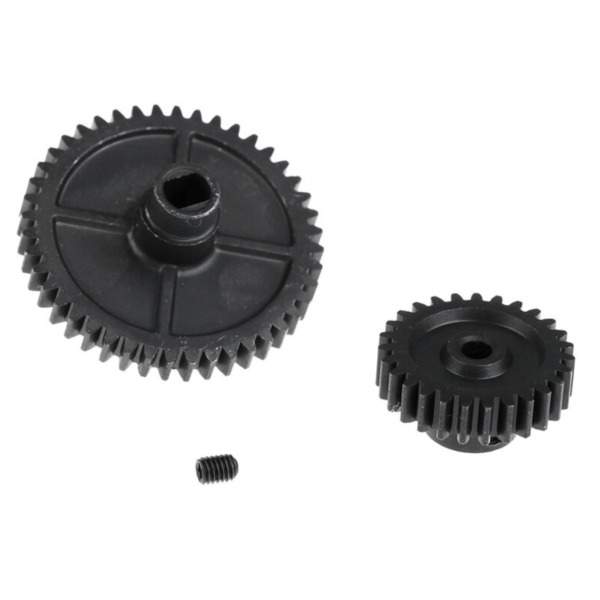 Metal Upgrade Main Reduction Gear And Motor Pinion Gear For Wltoys 144001 RC Car