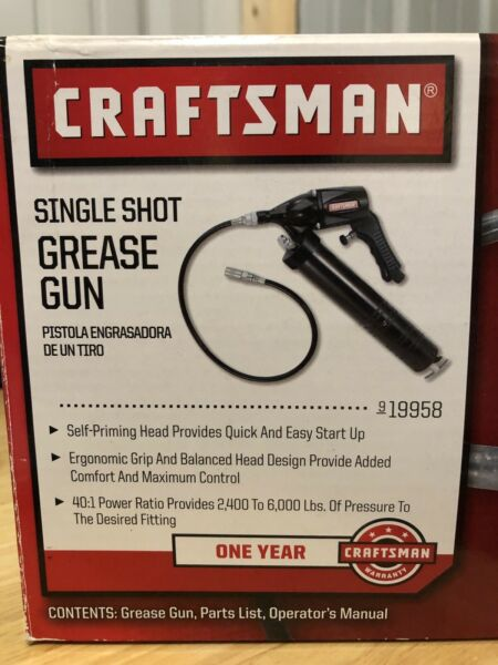 Craftsman Single Shot Grease Gun