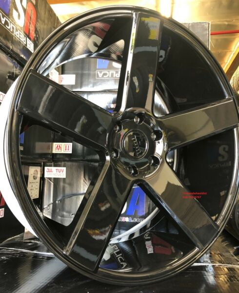 24'' inch DUB BALLER S216 GLOSS BLACK AND TIRES SILVERADO GMC YUKON TAHOE SIERRA