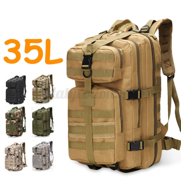 35L Outdoor Military Rucksack Tactical Army Backpack Camping Hiking Trekking Bag