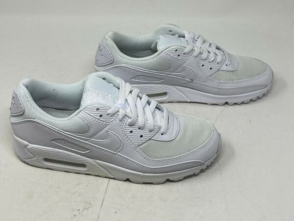 New Nike Air Max 90 Triple White CN8490 100 Mens Size 10 Womens Size 11.5 NOLID