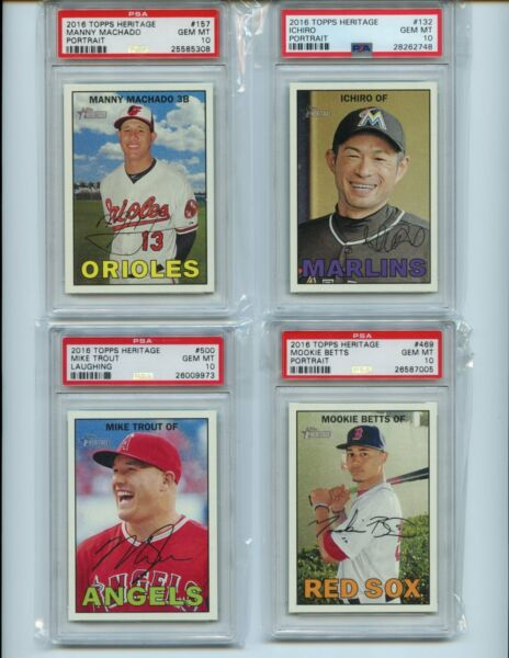 2016 Topps Heritage PSA 10 *** Choose from List (134 Different) - 20% Reduction