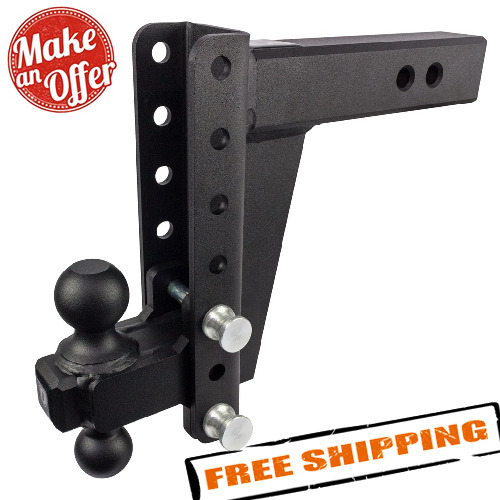 Bulletproof Hitches HD258 Adjustable 2.5quot; Heavy Duty Trailer Hitch 8quot; Drop Rise $339.00