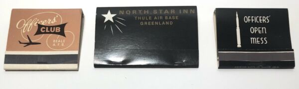 Vintage U.S. Air Force base matchbook lot Beale Thule Greenland Malmstrom MINT $9.00