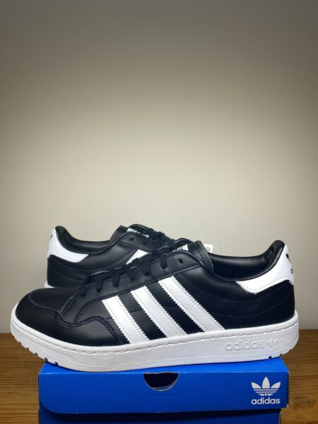 Adidas TEAM COURT Men's Shoes Casual Leather Classic Sneakers EF6048 - Size 10