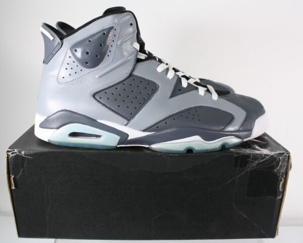 New Nike Jordan 6 Retro Customized Gray Teal Men's Lace Up Sneakers Size 14