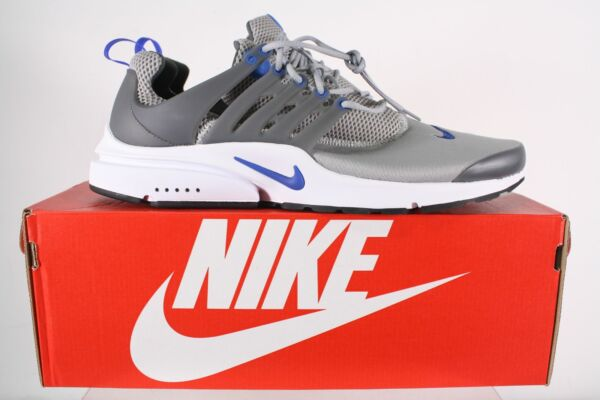 NWB Nike Air Presto Essential Gray White Men's Lace Up Sneakers Size 14