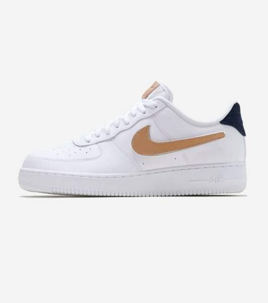 Nike Air Force 1 07 LV8 3 Size 12 Removable Swoosh Pack White Tan CT2253-100