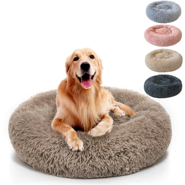 Small Large Pet Dog Puppy Cat Calming Bed Cozy Warm Plush Sleeping Mat Kennel $12.99