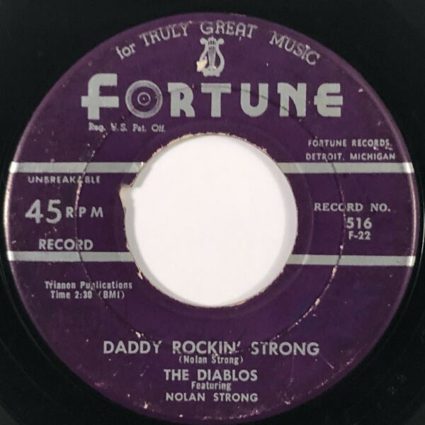 DIABLOS Daddy Rockin' Strong  Do You Remember Fortune R&B 45 HEAR