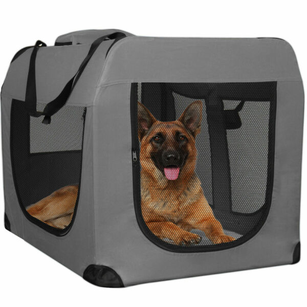 Dog Crate Soft Sided Pet Carrier Foldable Training Kennel Portable Cage House $15.99