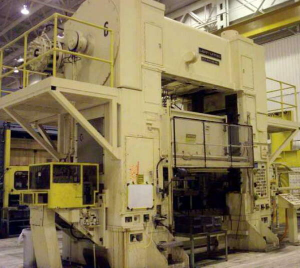 600 Ton Press for Sale • Mechanical Straight Side Double Crank • Warco 96