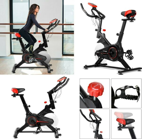 Exercise Bike Indoor Workout Stationary Bicycle Fitness Cardio Home Gym LCD NEW $269.95