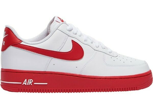 Nike Air Force 1 Low Men's Size 10 White/University Red Midsole CK7663-10