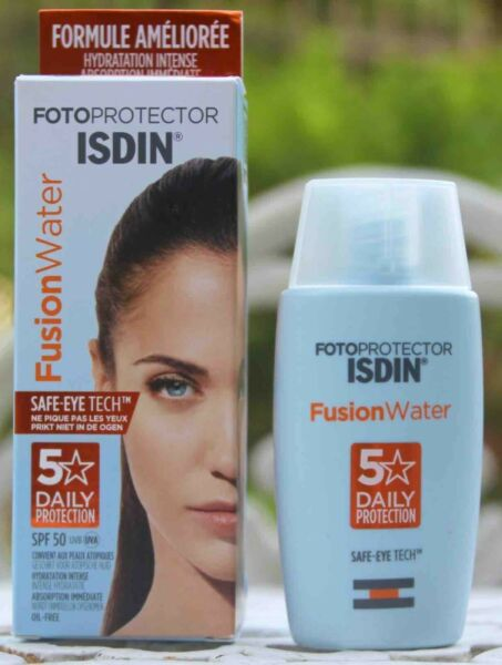 ISDIN Fotoprotector FUSION WATER Oil Free Sunscreen SPF50 50ml 1.69oz