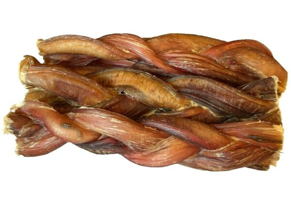 6quot; inch BRAIDED BULLY STICKS FOR DOGS EXCELLENT DOG CHEW AND DOG TREAT 6 pcs $19.99