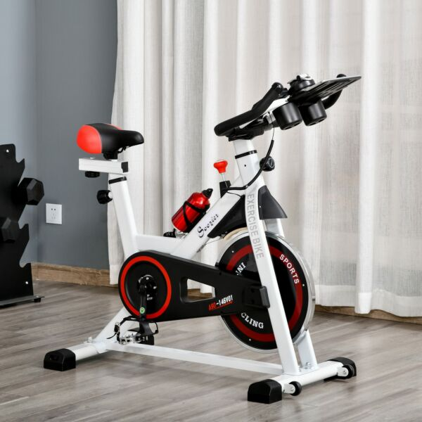 Exercise Cycling Bike w Adjustable Height Resistance Pedal Cages amp; LCD $149.99