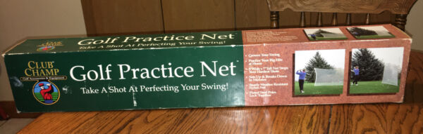 New Box CLUB CHAMP 9#x27; X 7#x27; Portable GOLF Practice Swing NET Outdoor Sets Up Fast $37.95