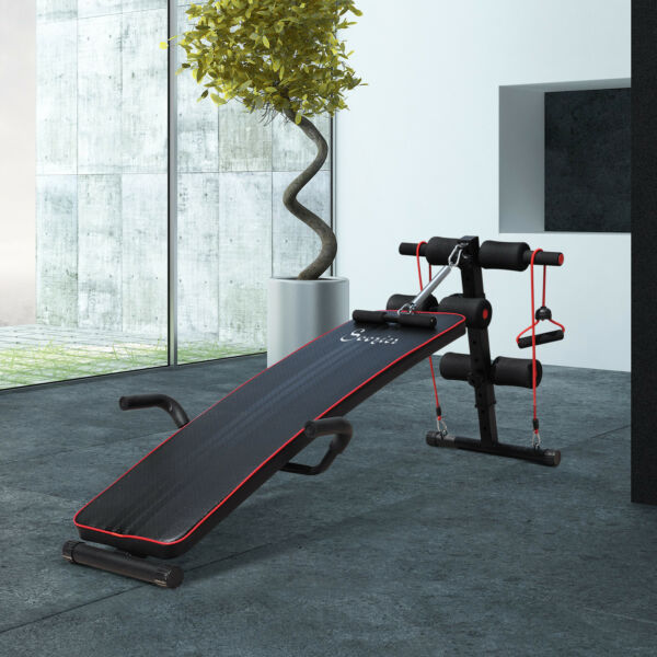 Sit Up Bench Core Workout for Home Gym Black $69.99