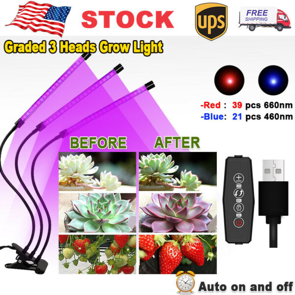 30W LED Grow Lights Full Spectrum For Indoor Hydroponics Plant Growing Lamp $23.99