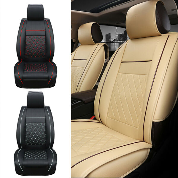 3D Universal Front Car Seat Cover Cushion Breathable PU Leather Pad 3 Colors NEW $35.99