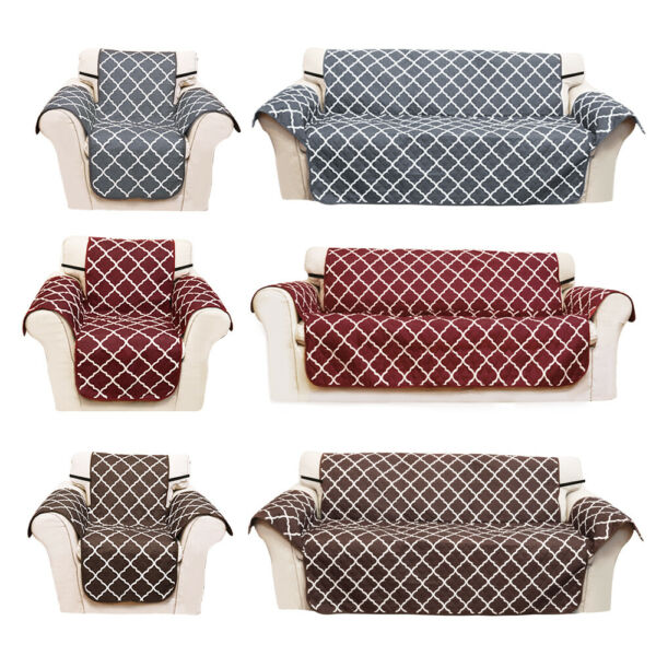 Quilted Water Resistant Sofa Cover Chair Couch Slipcover Pet Dog Protector Mat $14.98