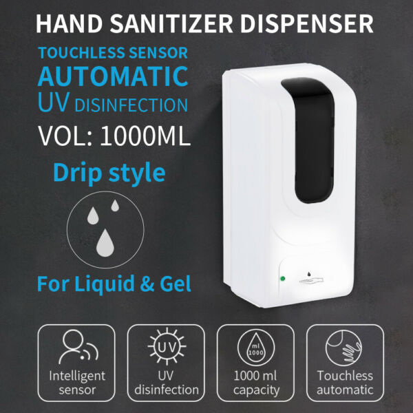 Automatic Touchless Soap Dispenser Wall-Mounted Sanitizer Dispense Solution 33OZ $38.99