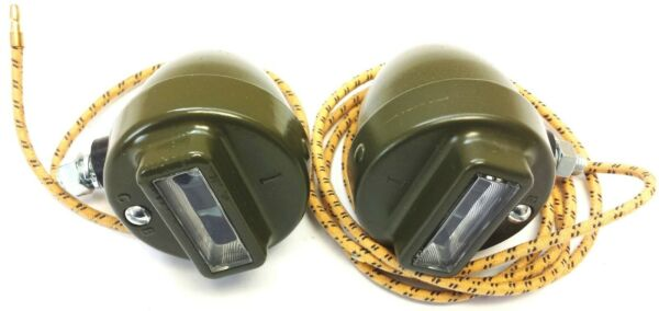willys MB ✅(A1436-A1437) Military CB CatEye Blackout Grill Marker Lights Set