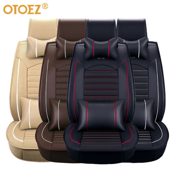 Car 5 Seat Covers Full Set Waterproof Leather Universal for Auto Sedan SUV Truck $81.69