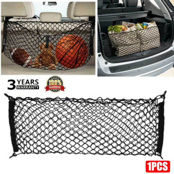 Universal 4 Hook Rear Trunk CARGO NET Car Nylon Elastic Mesh Organizer Truck USA $4.88