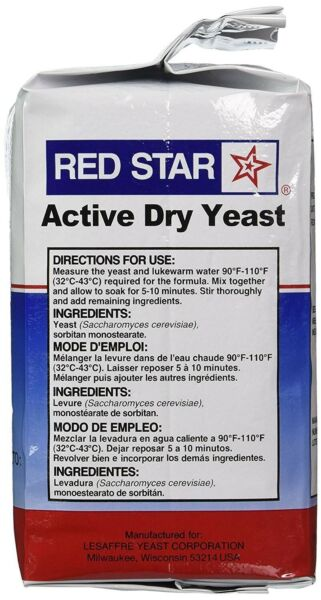 Red Star Active Dry Yeast 2lb 32 oz EXP 04 22 for bakers amp; bread machines