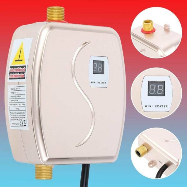 3000W Mini Instant Electric Water Heater Tankless Shower Boiler Home Bathroom $50.85