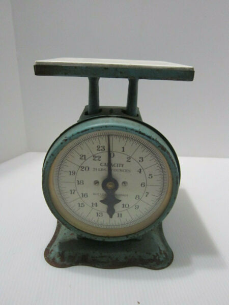 American Family Kitchen Scale 25LB Green Rustic Vintage Antique