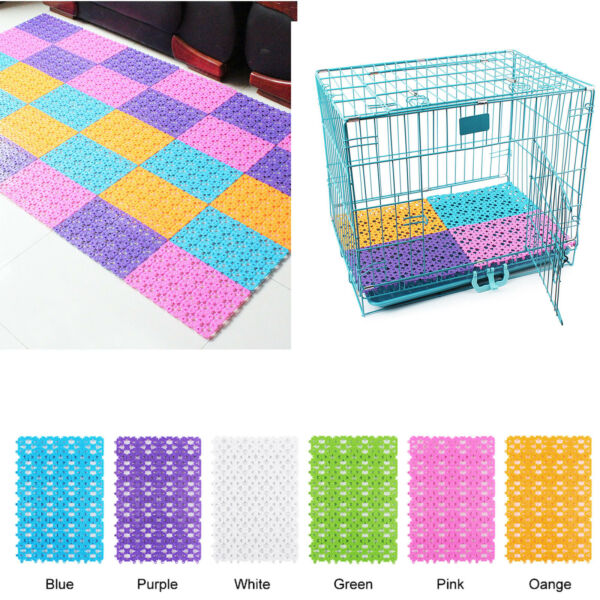 2x 12x12#x27;#x27; Non slip Pet Foot Pad Soft for Dog Cat Rabbit Cage Filter Water $7.99