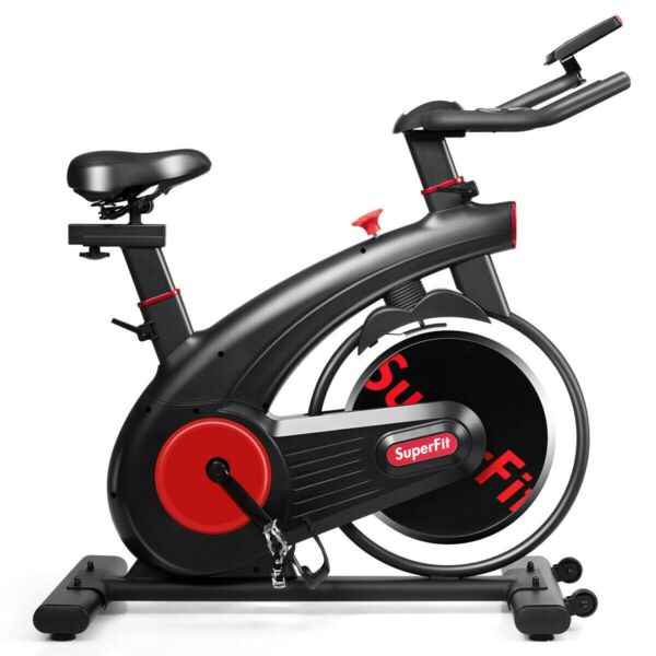 Stationary Bike Exercise Cycling Bike Silent Belt Home Fitness Workout Gym Steel $381.95
