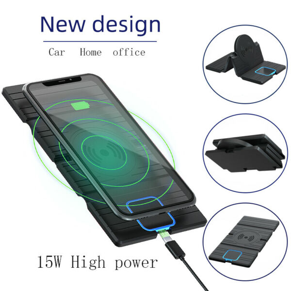 15W High Power Fast Charge Phone Charger Silicone Anti fall Vertical Stand