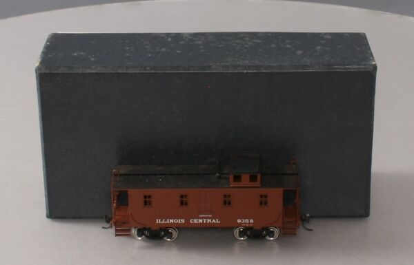 Pacific Fast Mail HO Brass Illinois Central Wood Caboose painted EX Box $166.43