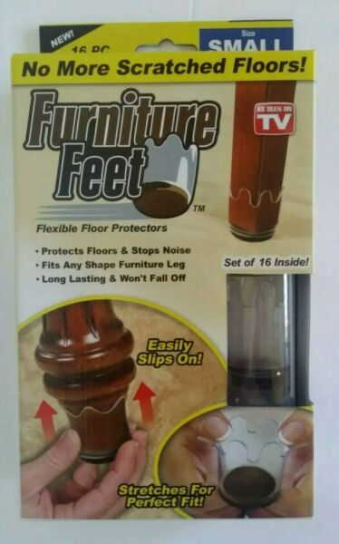 Furniture Feet Flexible Floor Protect scratch Set of 16 SIZE SMALL AS SEEN ON TV $11.99