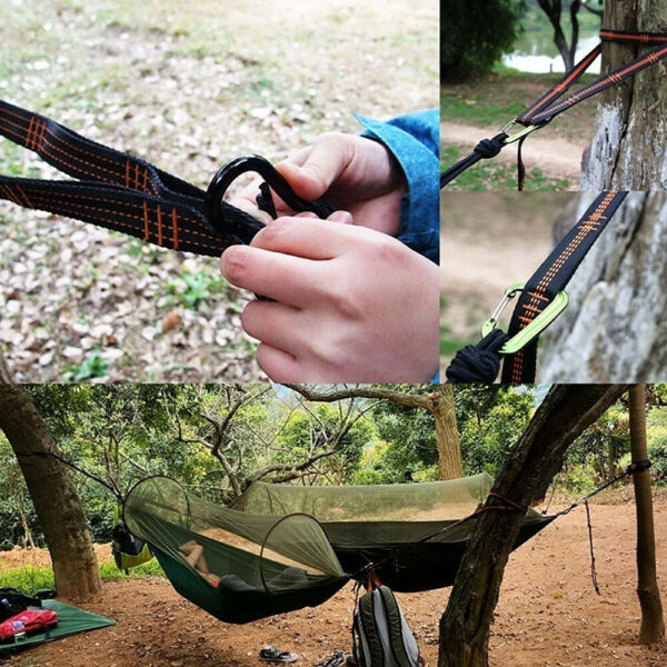 Polyester Slap Straps Suspension Hanging System for ENO Hammock 800 Pounds NEW $12.49