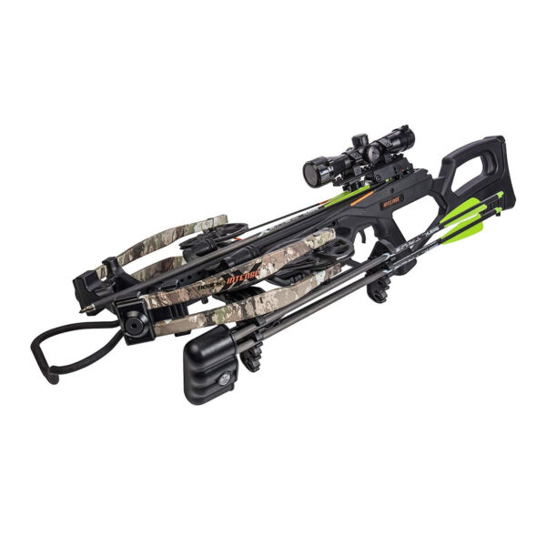 BearX Intense Ready to Shoot Crossbow Package with Scope Quiver Bolts Cocking