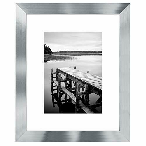Americanflat Picture Frame Silver Wood for Wall and Tabletop 4x65x78x1011x14 $16.99