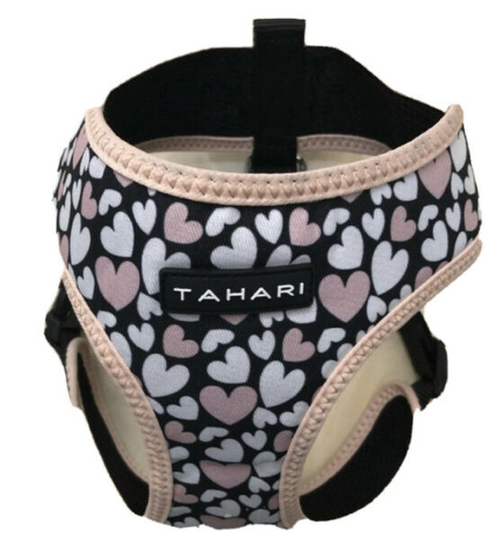 TAHARI HEARTS Multi Color Chest Plate HARNESS Puppy Dog LARGE $18.50