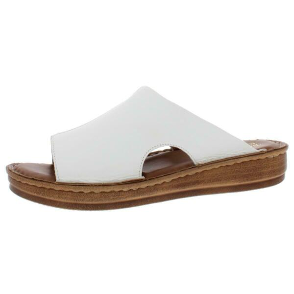 Bella Vita Womens Mae Italy Leather Mules Slide Sandals Shoes BHFO 2581