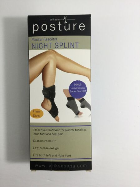 Posture Plantar Fasciitis Splint Either Foot New With Compression Socks Size S M
