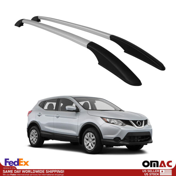 Top Roof Rack Side Rails Bars Silver Aluminum For Nissan Rogue Sport 2017 2021 $101.92
