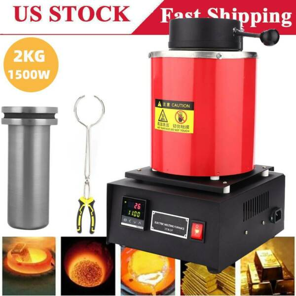 Professional 2KG Electric Melting Furnace Gold Silver Metal Smelter Jewelry Tool $197.35