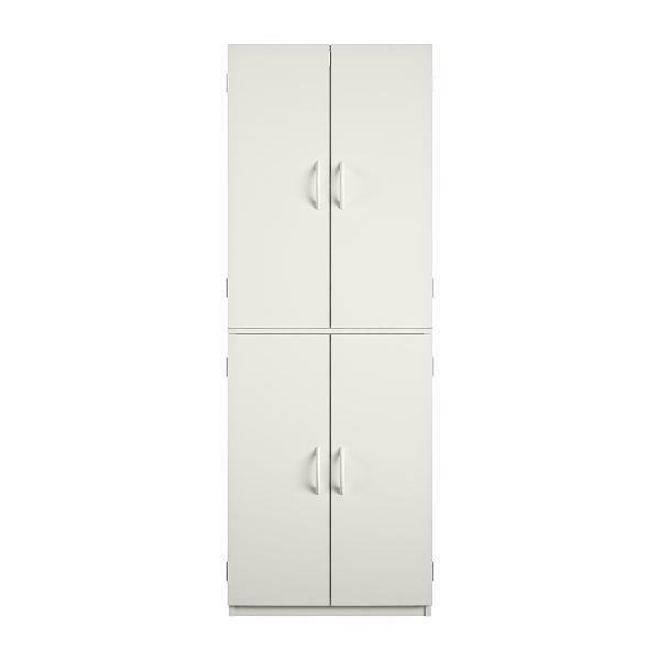 Tall Storage Cabinet Kitchen Pantry Cupboard Organizer Furniture White Stipple