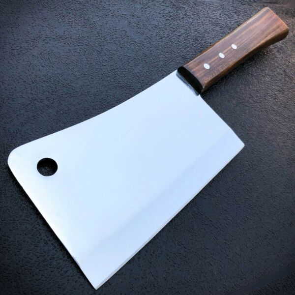 12quot; MEAT CLEAVER CHEF BUTCHER KNIFE Stainless Steel Full Tang Chopper Kitchen