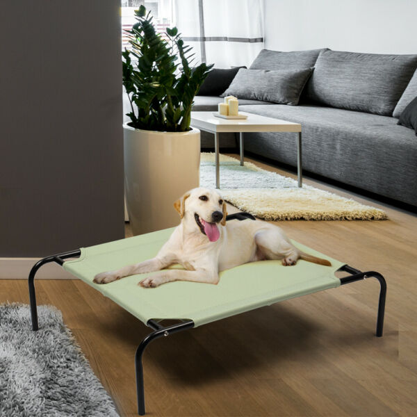 Elevated Dog Cot Bed Indoor amp; Outdoor Raised Dog Beds Skid Resistant Feet $15.88